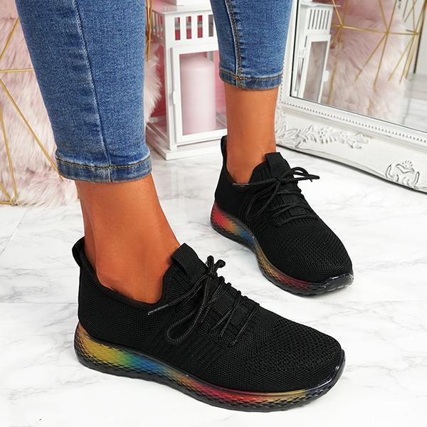 Shoedoes Rainbow Trainers Sneakers