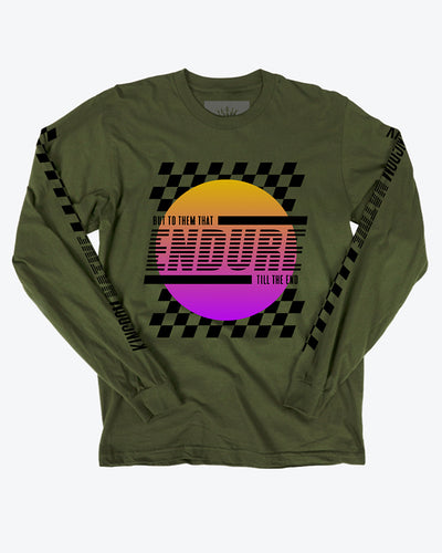 Endure Rally Long Sleeve Green T-Shirt