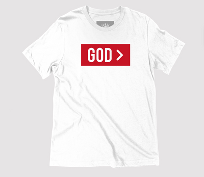 God > | White Unisex T-Shirt