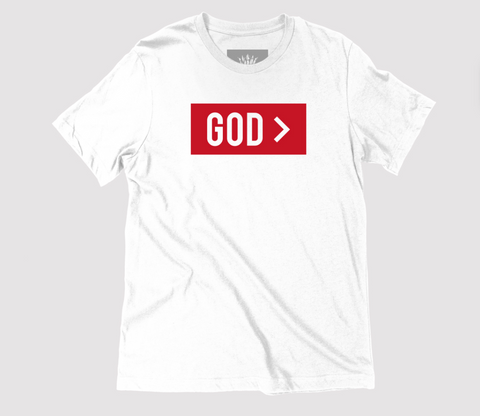 God > White Unisex T-Shirt