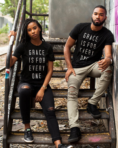 Grace Is For Everyone Speckled Unisex T-Shirt