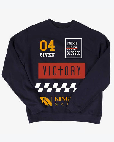 KN Racing Unisex Navy Blue Sweater