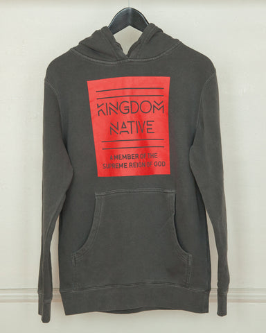 Supreme Reign Pigment Charcoal Hoodie