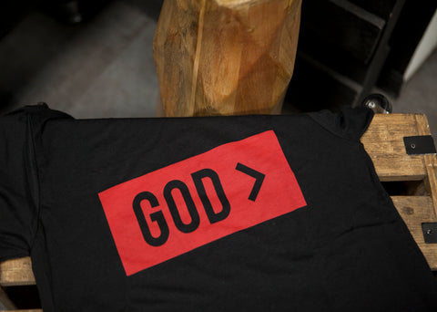 God > | Black Unisex T-Shirt