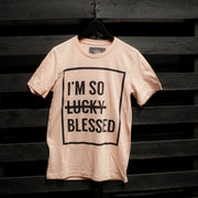 I'm So Blessed Unisex Peach T-Shirt