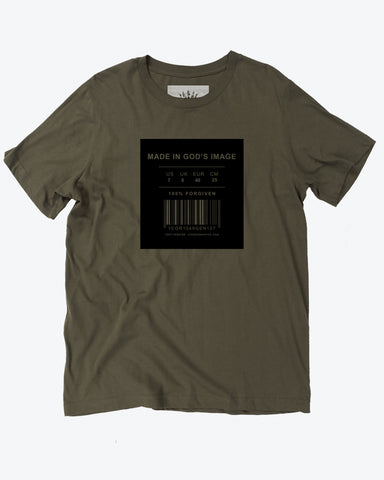 Made in God's Image Army Green T-Shirt