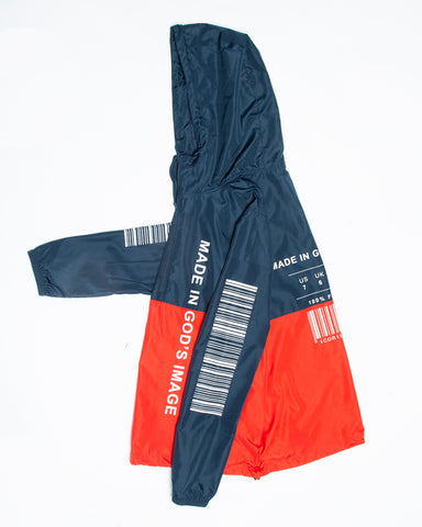 Made In Gods Image Red/Blue Windbreaker
