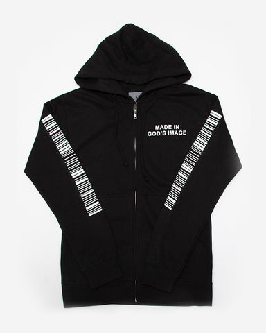 Made In God's Image Zip Hoodie Black