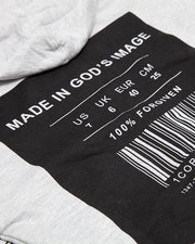 Made In God's Image Grey Zip Hoodie