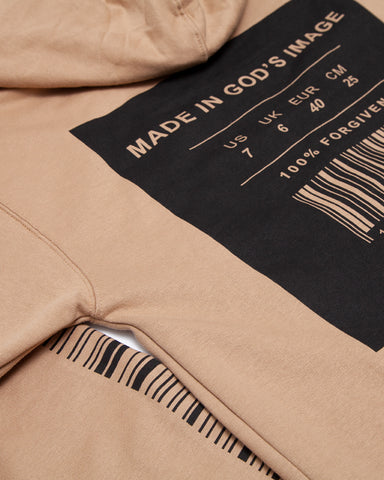 Made In God's Image Sand Zip Hoodie