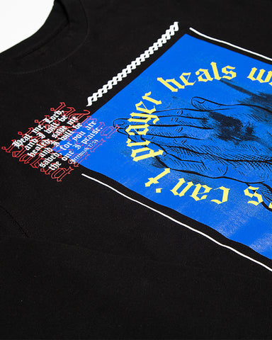 Prayer Heals Wounds Black Crewneck