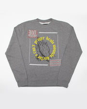Prayer Heals Wounds Grey Crewneck