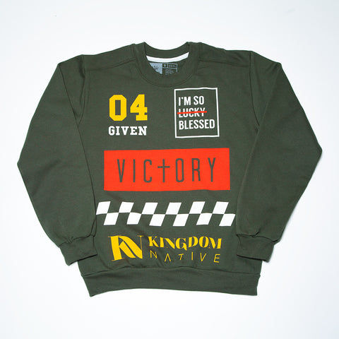 KN Racing Unisex Green Sweater