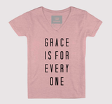 Grace Is For Everyone Women's V-Neck