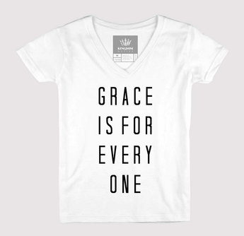 e1418156 Grace Is For Everyone Women's V-Neck