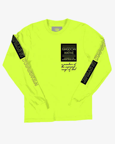 Supreme Reign Long Sleeve Neon T-Shirt