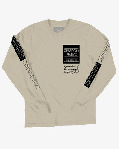 Supreme Reign Long Sleeve Tan T-Shirt