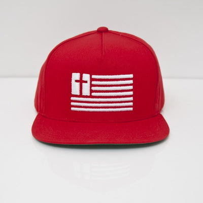 Default Type - Red & White | United Souls Of America Snapback