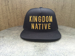 Snapback - Kingdom Native Snapback Black + Gold