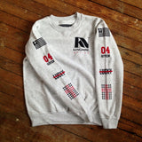 Sweater - Kingdom Native Ash Grey Sweatshirt