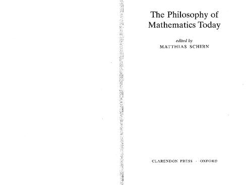 The Philosophy of Mathematics Today