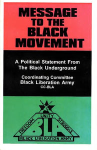 Message To The Black Movement: A Political Statement From The Black Underground