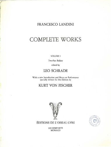 Complete works. Volume 1: Two-part ballate