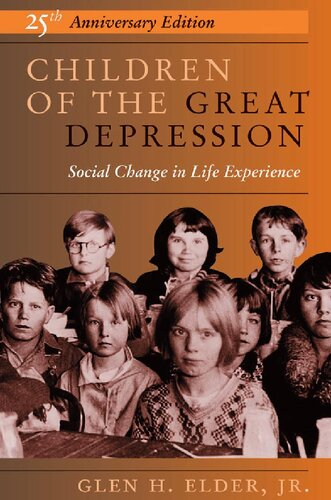 Children of the great depression : social change in life experience