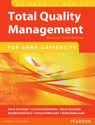 Total Quality Management (For ANNA University)