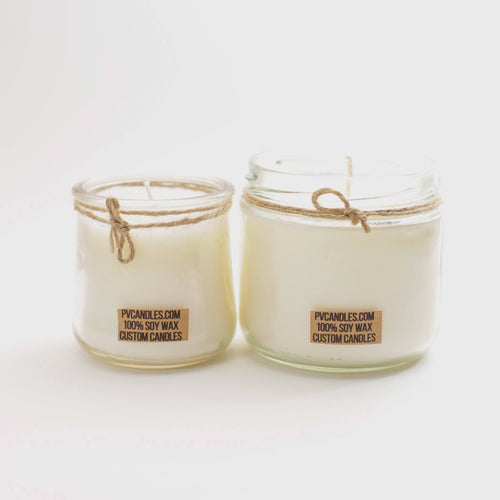 SOY WAX CANDLES (RECYCLED GLASS JAR)