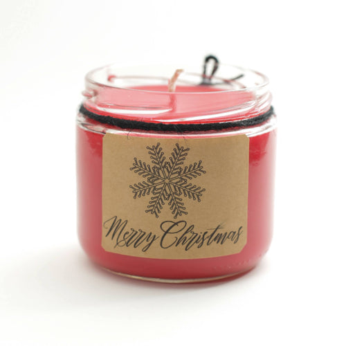 *LIMITED EDITION* HOLIDAY SOY WAX CANDLE (RECYCLED GLASS JAR)
