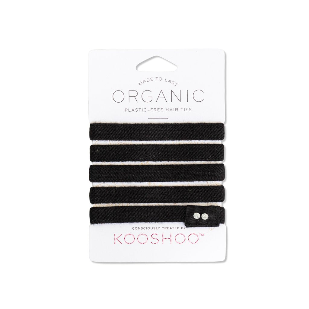 ORGANIC COTTON HAIR TIES (PLASTIC-FREE)