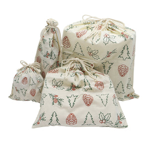 REUSABLE GIFT WRAP BAG SETS (ORGANIC COTTON)