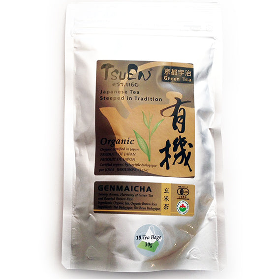 Tsuen Yuki Genmaicha Tea Bags from Kyoto Japan 30g