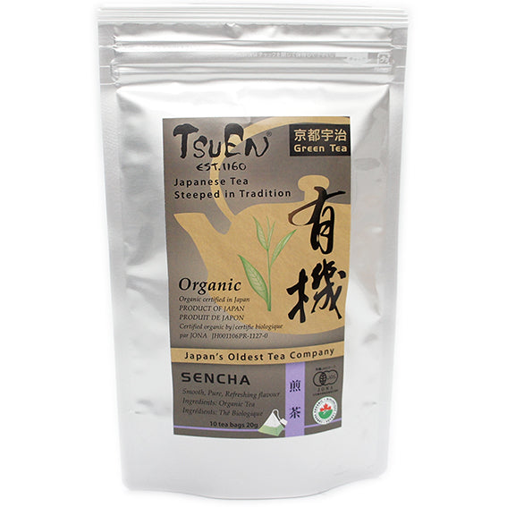 Tsuen Yuki Sencha 10 Tea Bags from Kyoto Japan