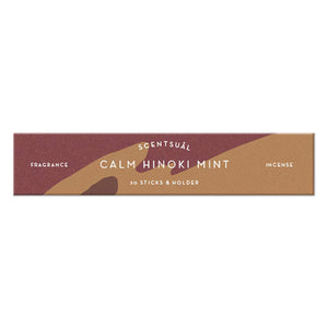 Scentsual Incense Calm Hinoki Mint 30 Sticks