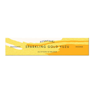Scentsual Incense Sparkling Gold Yuzu 30 Sticks