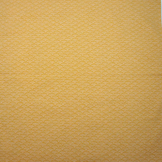 Cloth Seigaiha Mustard Yellow