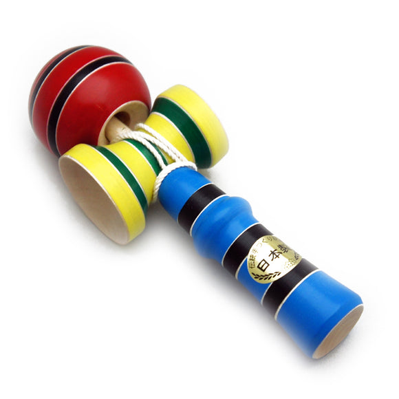 Toy Wooden Kendama Extreme Red Yellow and Blue