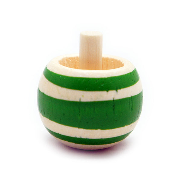 Toy Wooden Spinning Tippe Top Green
