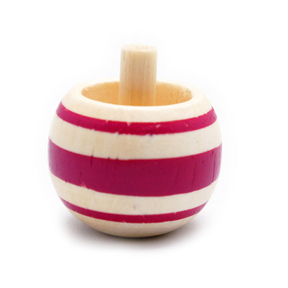 Toy Wooden Spinning Tippe Top Pink