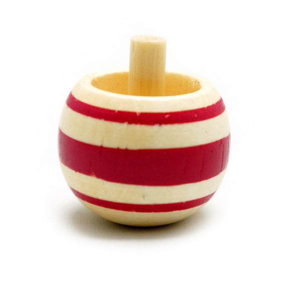 Toy Wooden Spinning Tippe Top Red