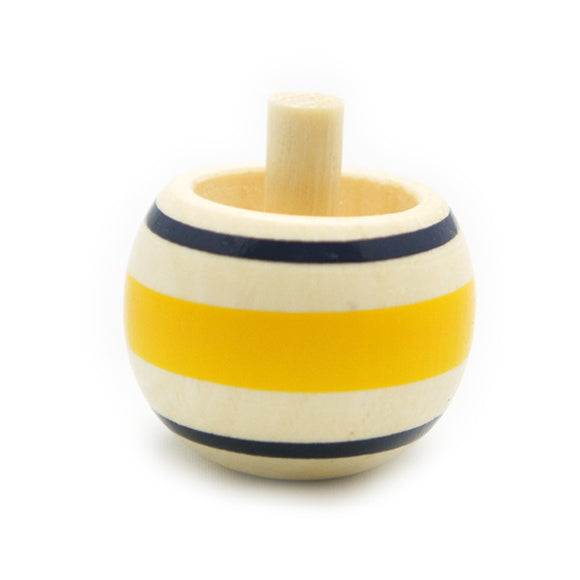 Toy Wooden Spinning Tippe Top Yellow