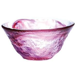 Glass Sake Cup Wagarasu Red