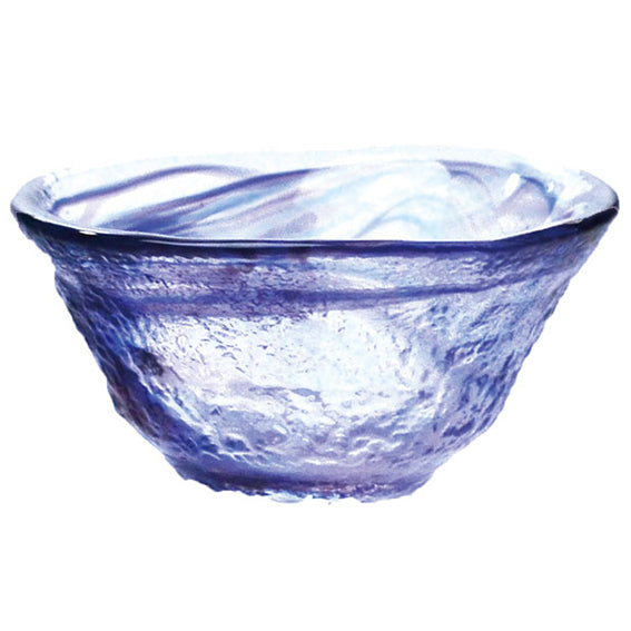 Glass Sake Cup Wagarasu Blue