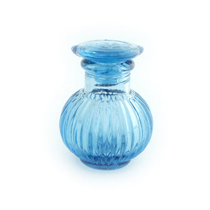 Glass Soy Pot Blue Small