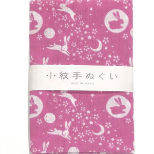 Tenugui Rabbit Pink