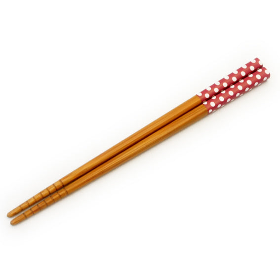 Chopsticks Polkadots Red
