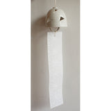 Ceramic Wind Chime Triangle Sukashi White