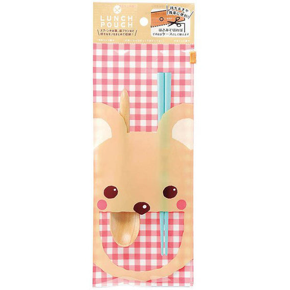Chopsticks and Spoon Lunch Pouch Bear